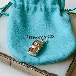 Tiffany & Co Taxi Cab Silver Charm Pendant NEW